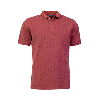 Eagle & Brown Polo korte mouw print rood uni