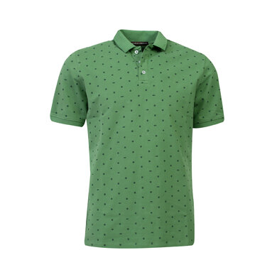 Eagle & Brown Polo korte mouw print grasgroen uni