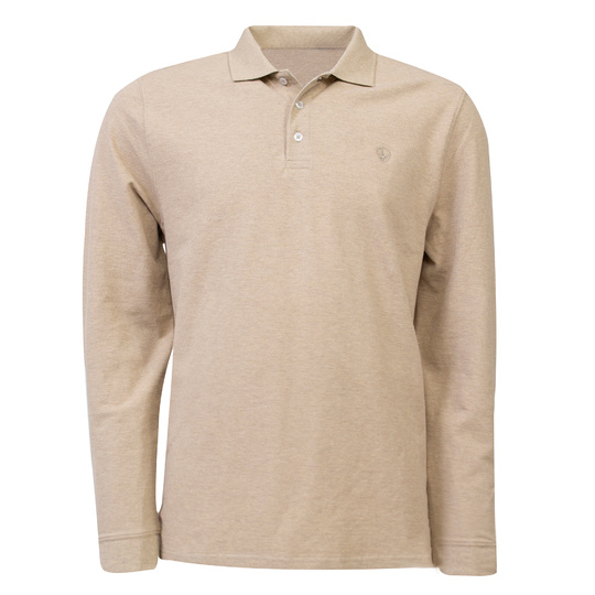 Eagle & Brown Polo Lange Mouw Beige