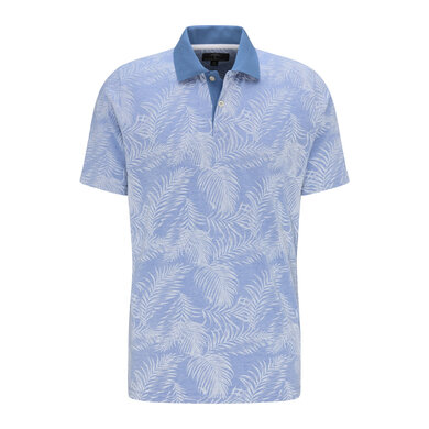 Fynch Hatton Polo Palm Print Pacific