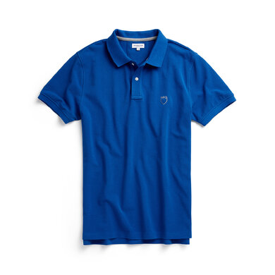 McG Regular fit cotton pique polo Shirt Blue
