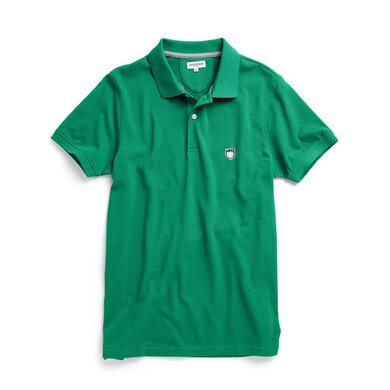 Slim fit pique polo with stretch Groen