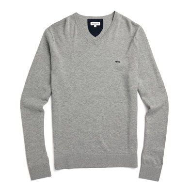 The McG Cotton Silk V Sweater Medium grey