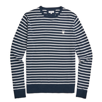 The McG Stripe Crew Sweater Bright Navy