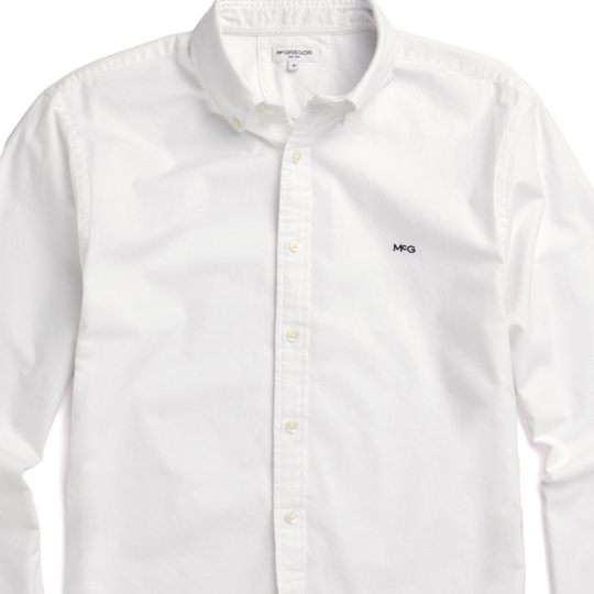 McGregor Regular fit Oxford shirt stretch White
