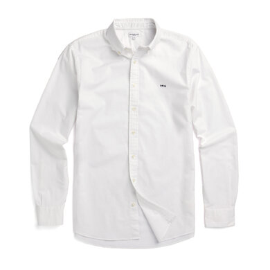 Regular fit Oxford shirt stretch White
