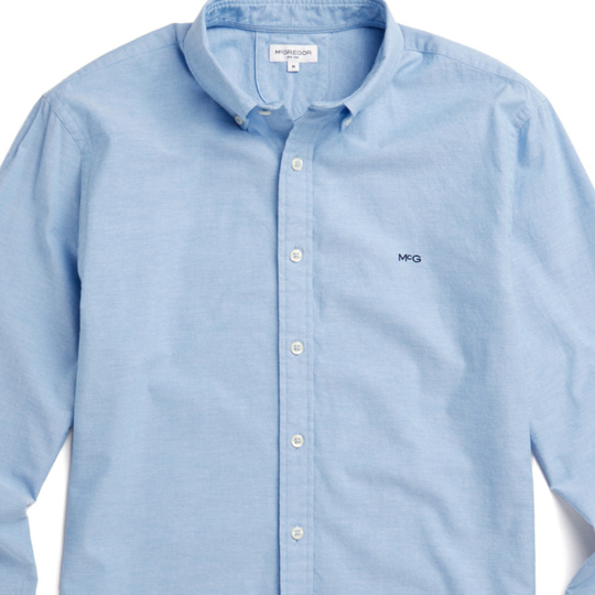 McGregor Regular fit Oxford shirt stretch Shirt Blue