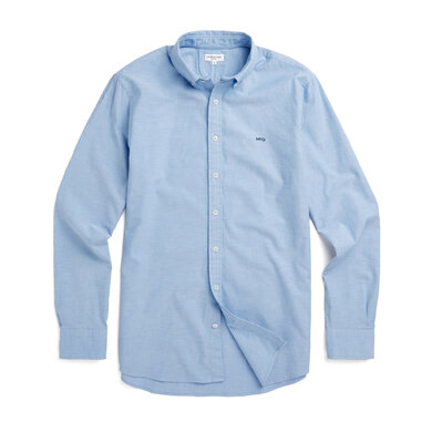 Regular fit Oxford shirt stretch Shirt Blue