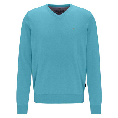 Fynch Hatton V-Neck Trui Azure