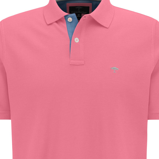 Fynch Hatton Polo Basic Modern Fit Flamingo