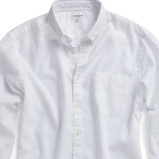 The McG RF Cotton Linen Shirt White