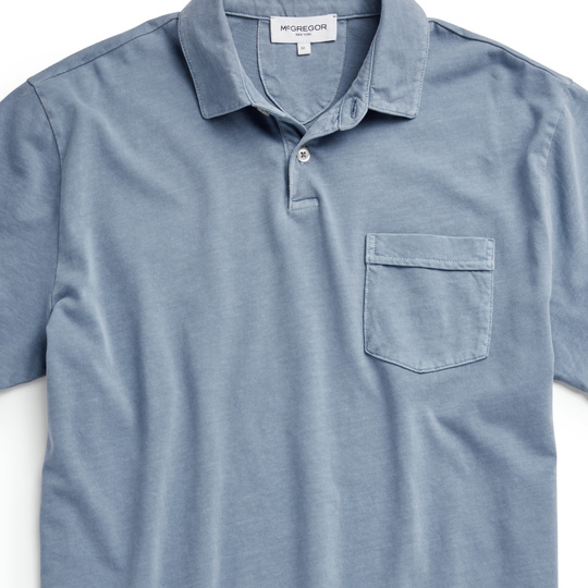 McGregor Polo Korte Mouw Soft Jersey Shirt Blue