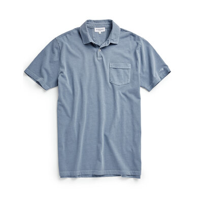 McG Regular fit super soft jersey polo Shirt Blue