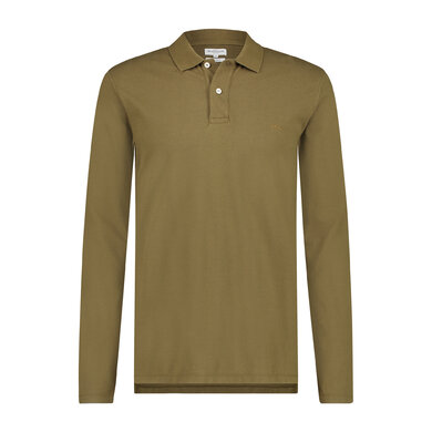 Regular fit pique polo longsleeve Alfalfa Green