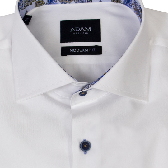 Adam est 1916 Overhemd Dressual Wesley Wit White