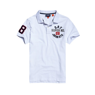 Superdry Polo Korte Mouwen Katoen Optic White