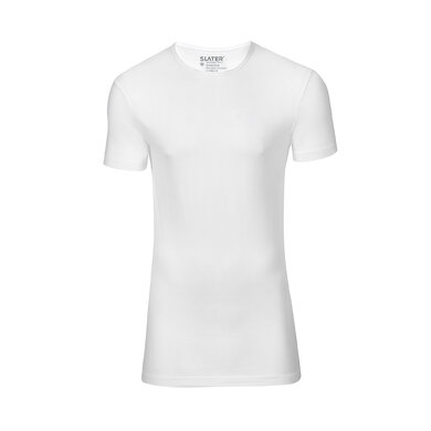 Slater T-shirt Stretch Ronde Hals Wit White
