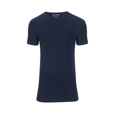 Slater T-shirt Stretch V-hals 2-pack Navy Navy