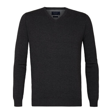 Profuomo pullover v-neck anthra Anthraciet