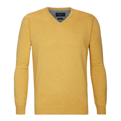 Profuomo pullover v-neck yellow Yellow