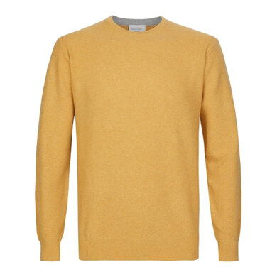 Profuomo Pullover Ronde Hals Geel Yellow