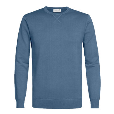 Michaelis Pullover v-hals Jeansblauw Blue
