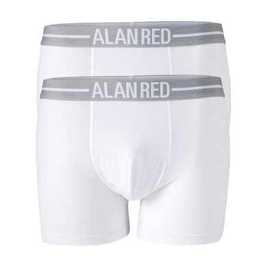 Alan Red Boxershorts Jersey Stretch White