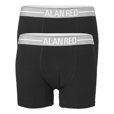 Alan Red Boxershorts Jersey Stretch Black