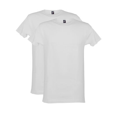 Alan Red t-shirt wit ronde hals 2-pack wit uni