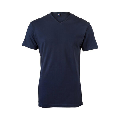 Alan Red t-shirt marine v-hals Marine