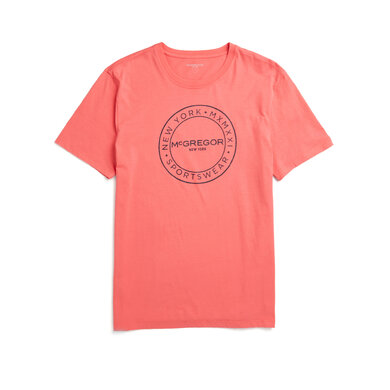 McGregor T-shirt Regular Fit met Logo Oranje