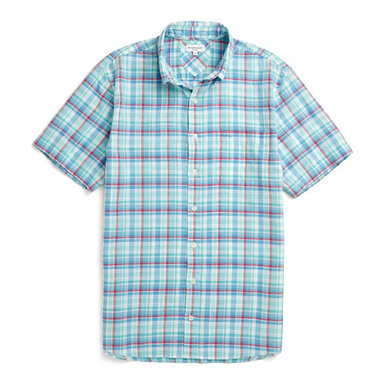 McG Regular fit checkered shirt with short sleeves Flower Pink