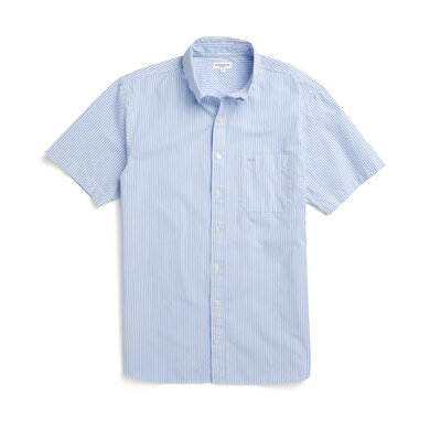 McG Regular fit shirt with short sleeves and fine stripes Shirt Blue