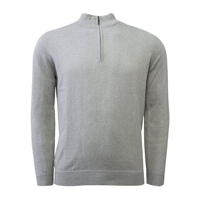 Duetz 1857 zip trui in Cotton Cashmere Light grey