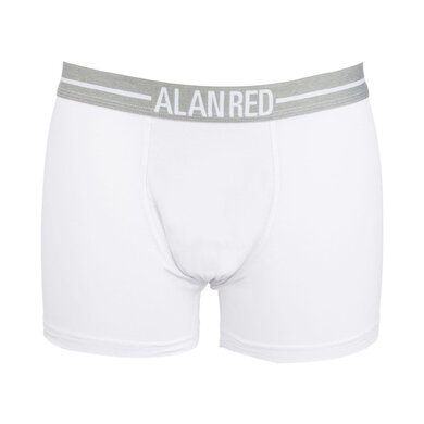 Alan Red witte boxershorts two pack Wit wit uni