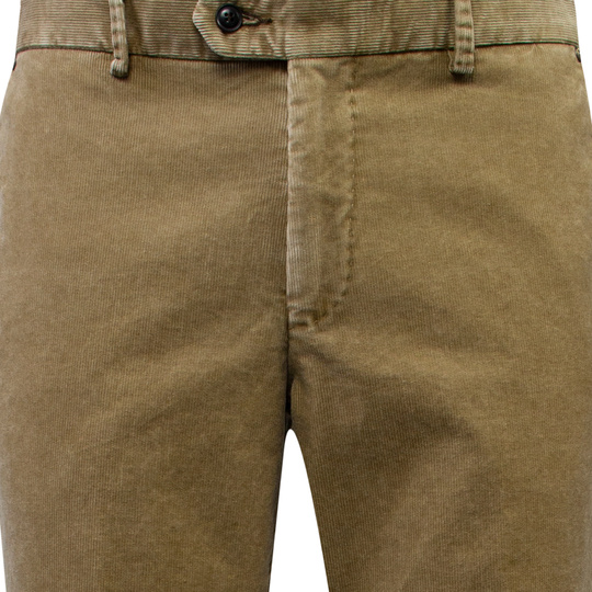 Duetz Tailors 1857 broek in stretch minicord stretch beige Beige