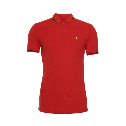 Adam est. 1916 polo korte mouw stretch Bright red