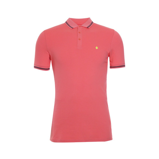Adam est. 1916 polo korte mouw stretch Coral