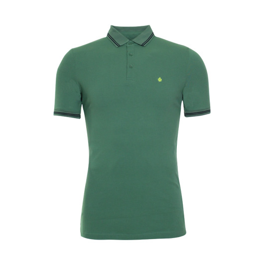 Adam est. 1916 polo korte mouw stretch Deep Grass Green