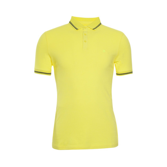 Adam est. 1916 polo korte mouw stretch Yellow