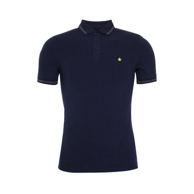 Adam est. 1916 polo korte mouw stretch Navy