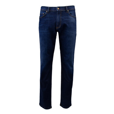 Duetz Tailors 1857 5-pocket jeans in stretch denim Donkerblauw