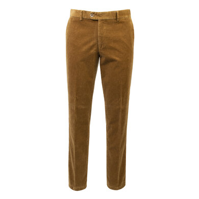 Eagle & Brown stretch katoenen corduroy chino camel Camel