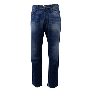 Eagle & Brown jeans in stretch biologische denim Middenblauw