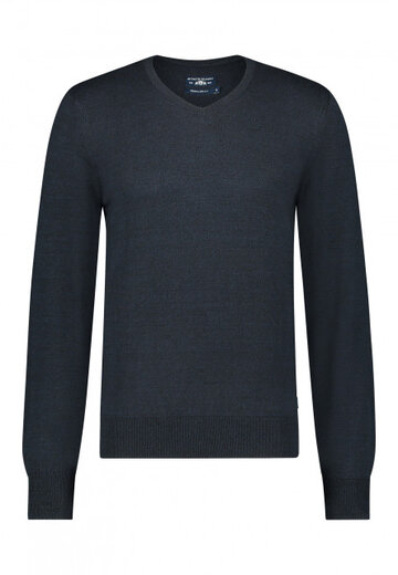 State of Art pullover v-hals donkerblauw/marine