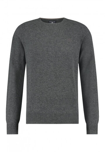 State of Art pullover ronde hals donkerantraciet uni