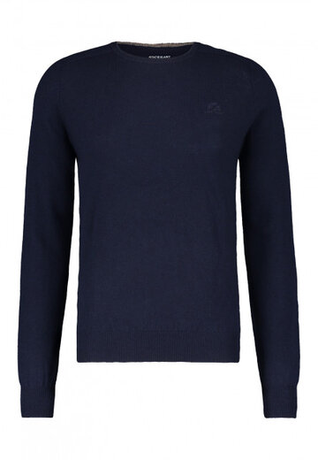 State of Art pullover ronde hals donkerblauw uni