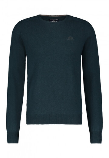 State of Art pullover ronde hals petrol uni