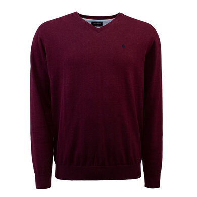Adam Pullover V-hals Organic Cotton Port red