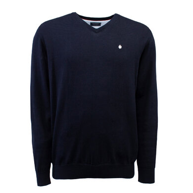 Adam Pullover V-hals Organic Cotton Navy